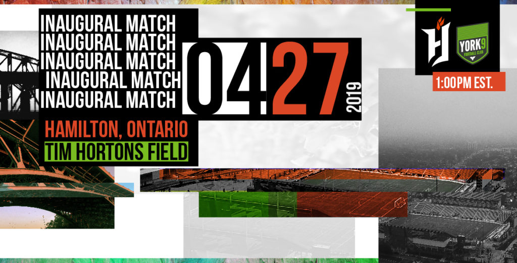 The Canadian Premier League's inaugural match, April 27 at Tim Hortons Field.