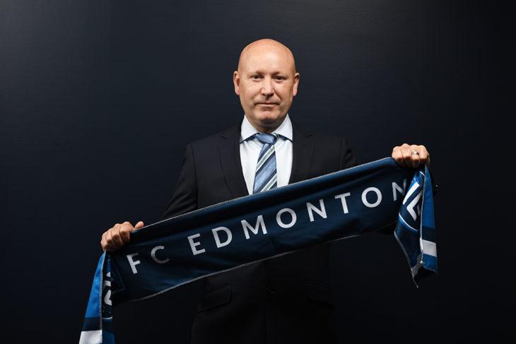 FC Edmonton head coach Jeff Paulus.