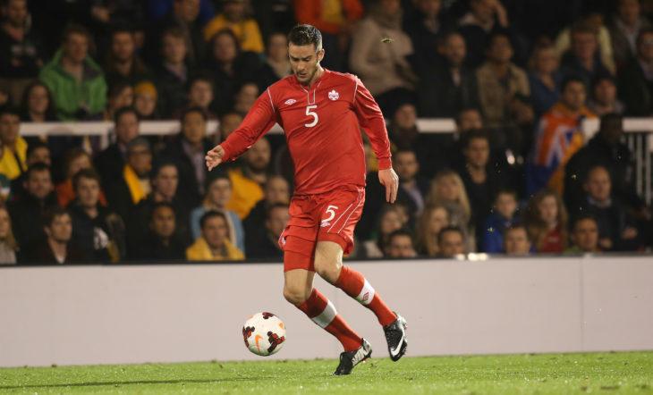 David Edgar during a friendly against Australia. (Canada Soccer)
