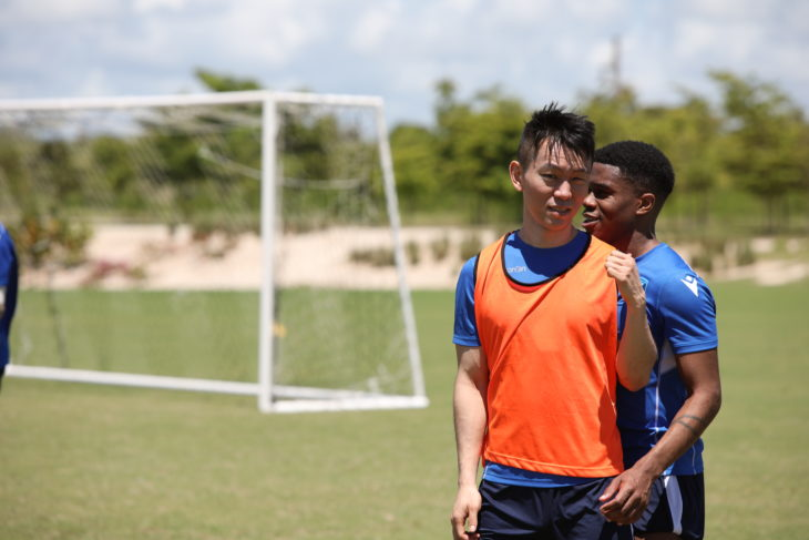 FC Edmonton's Son Yongchan during training camp in the Dominican. (Nora Stankovic/CPL)