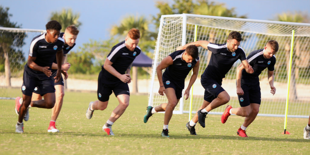 HFX Wanderers FC training in Punta Cana ahead of the 2019 CPL season. (Photo: Nora Stankovic/CPL).