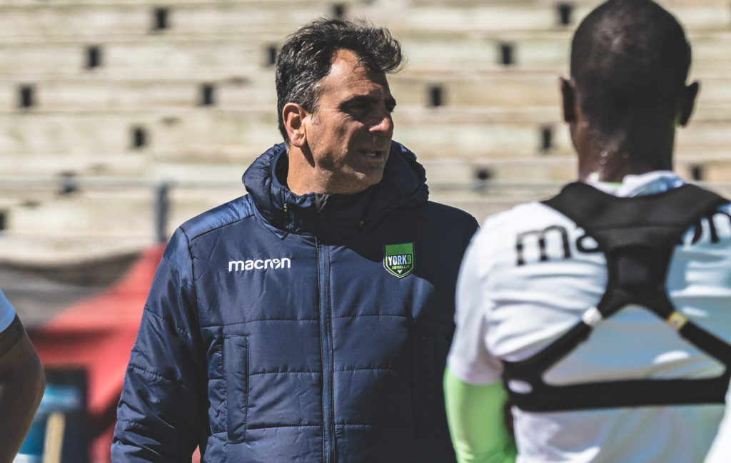 York9 FC assistant coach Carm Isacco. (Photo: Chant.ca).
