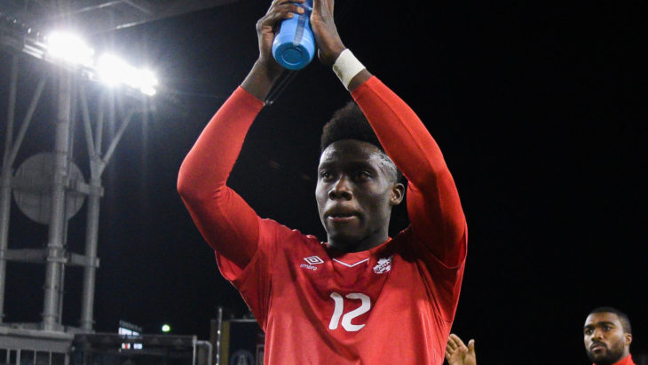 Concacaf Nations League Qualifying 16 October 2018 - Toronto, ON, CAN Canada Soccer by Martin Bazyl Alphonso Davies (Powerade Canada)