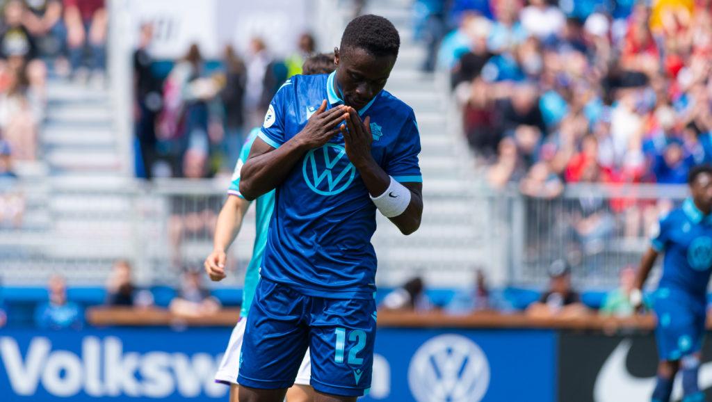 HFX Wanderers winger Mohamed Kourouma. (Trevor MacMillan/CPL).