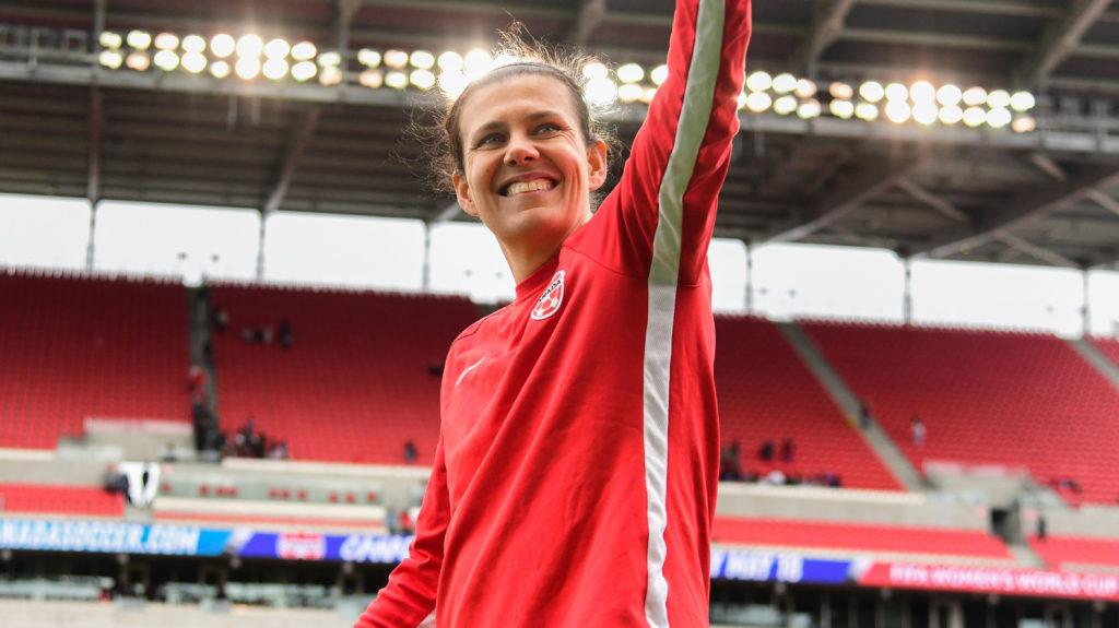 Christine Sinclair. (Canada Soccer/Martin Bazyl).
