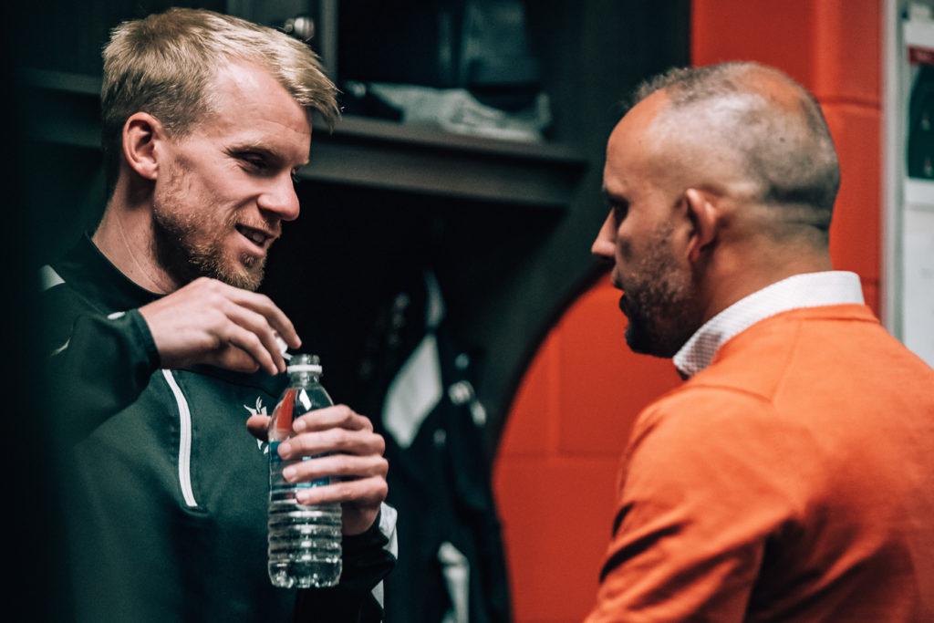 Kyle Bekker and Bobby Smyrniotis of Forge FC. (Photo: Reuters).