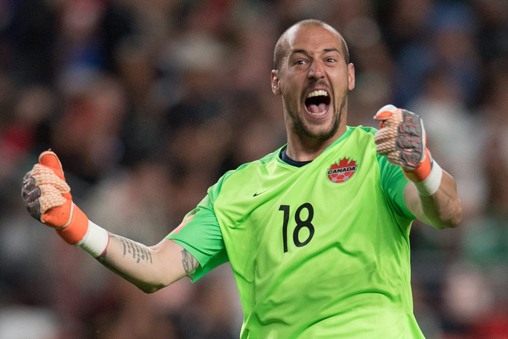 CanMNT goalkeeper Milan Borjan celebrates a Gold Cup result. (Photo: Canada Soccer).