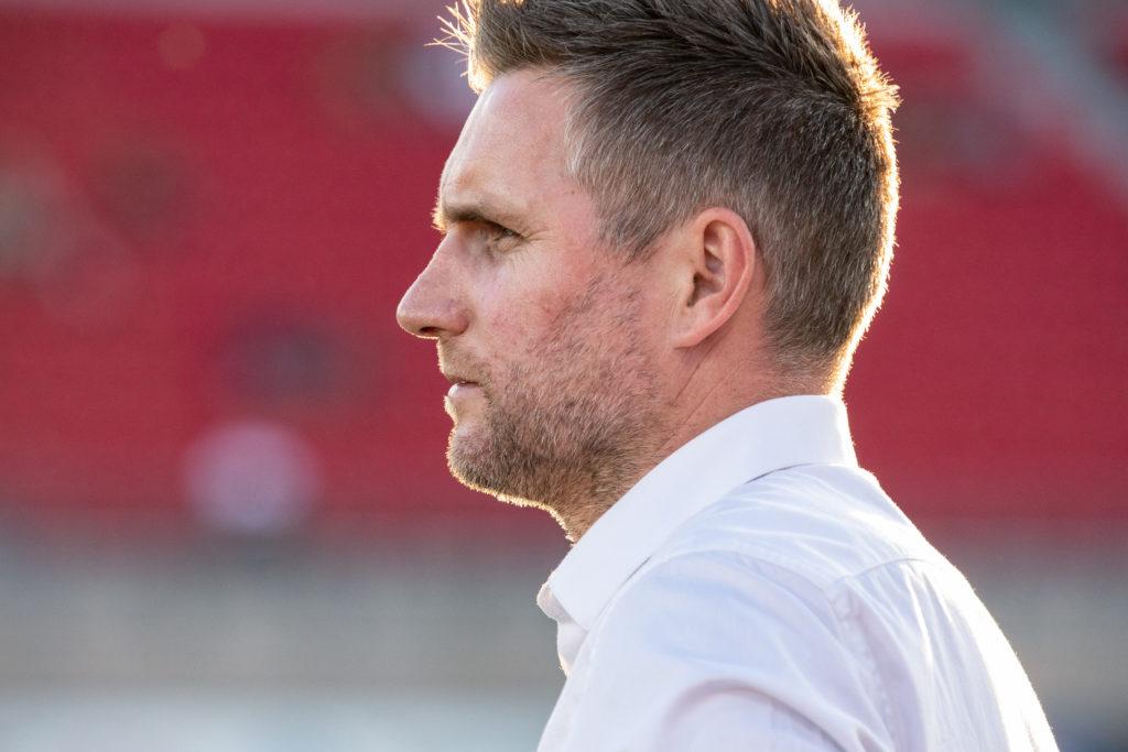York9 FC head coach Jimmy Brennan. (Photo: Nora Stankovic).