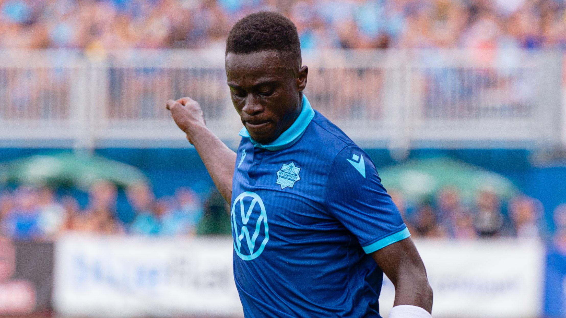 HFX Wanderers FC midfielder Mohammad Kourouma. (Trevor MacMillan/CPL).