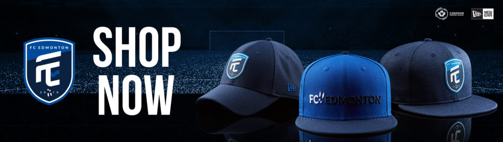Visit shop.canpl.ca for FC Edmonton jerseys, hats, and more.