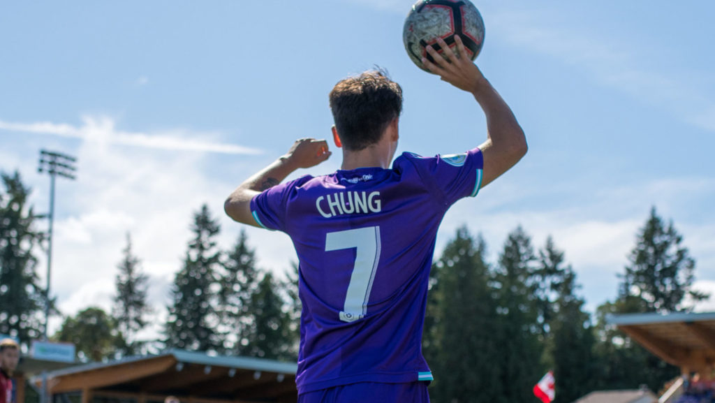 Pacific FC's Kadin Chung in action at Westhills Stadium. (Photo: Pacific FC).