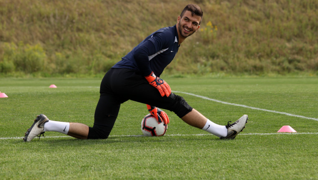 Cavalry FC's Marco Carducci during CanMNT training in Toronto. (Canada Soccer).