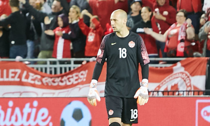 Milan Borjan suits up for Canada. (Photo: Canada Soccer).