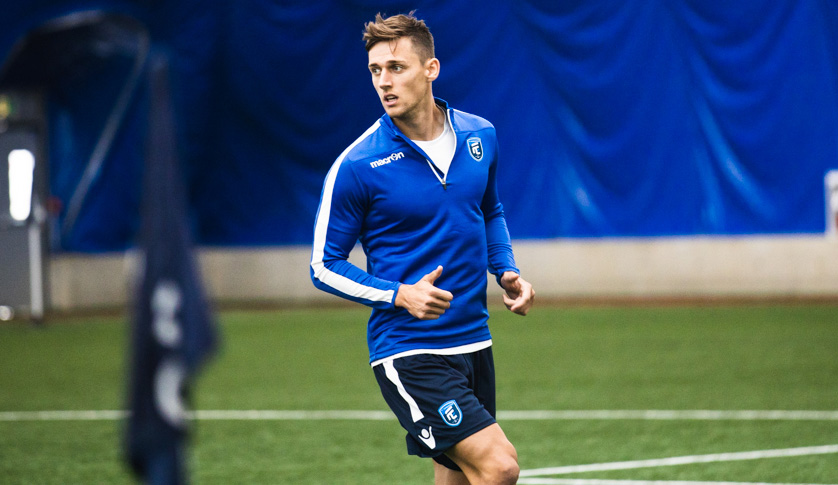 FC Edmonton's Amer Didic in training. (Photo: FC Edmonton).