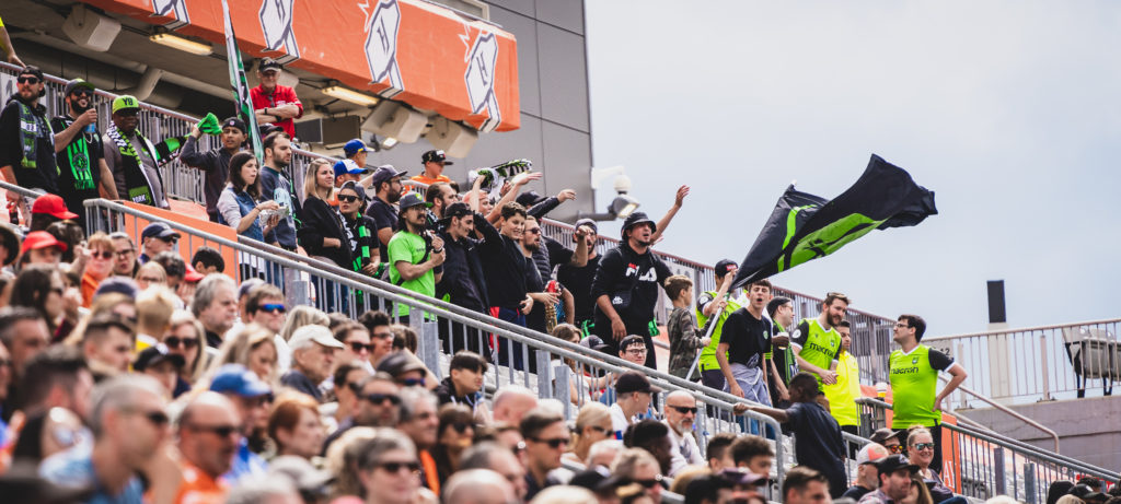 York9 supporters at Tim Hortons Field in Hamilton. (Photo: David Chant/Chant.ca).