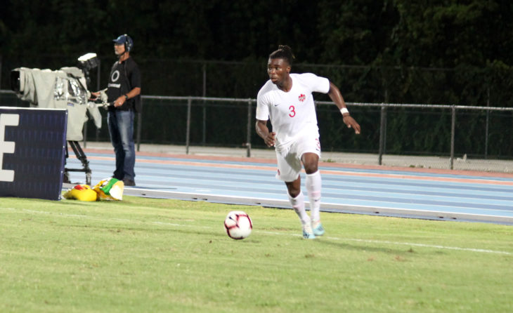 Samuel Adekugbe in action for Canada against Cuba in September 2019. (Photo: Canada Soccer/Flickr)