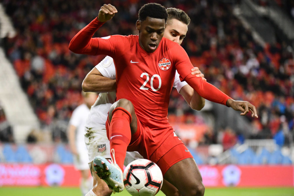 Canadian forward Jonathan David. (Canada Soccer photo)