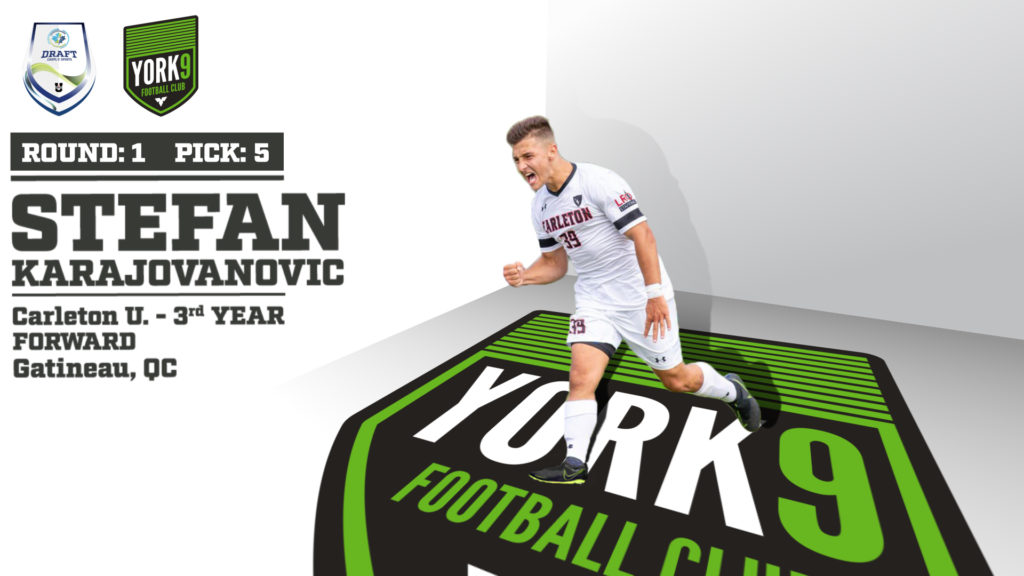 York9 FC's 1st round selection Stefan Karajovanovic of Carleton University.
