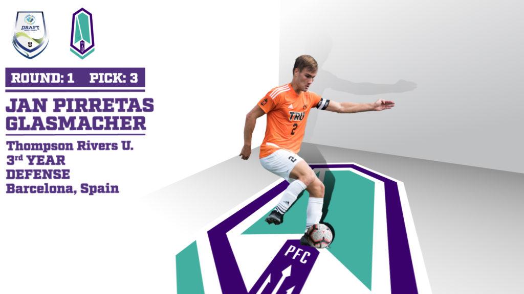 Pacific FC's 1st round selection Jan Pirretas Glasmacher of Thompson Rivers.