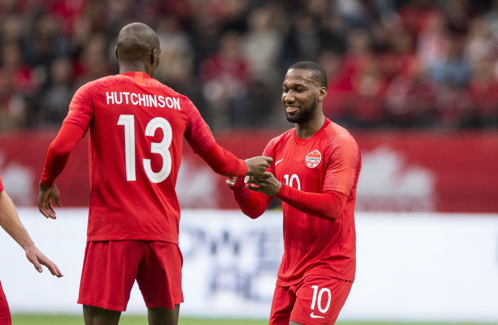 Concacaf Nations League Qualifying 24 March 2019 - Vancouver, BC, CAN Canada Soccer by Bob Frid Atiba Hutchinson David Junior Hoilett captain's armband