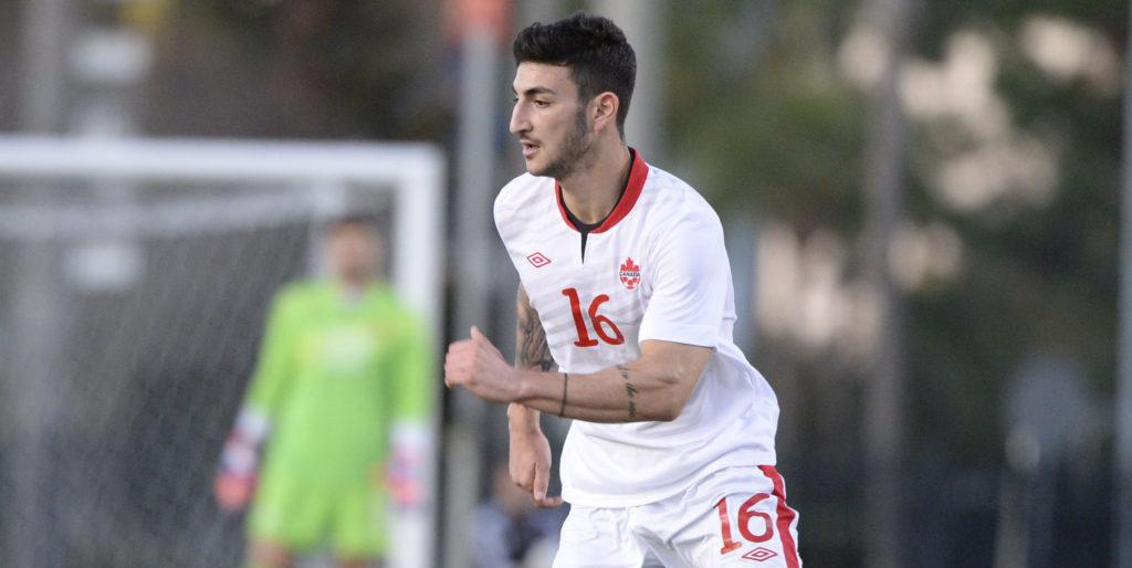 Chris Mannella in action for Canada. (Photo: Romeo T Guzman/Canada Soccer