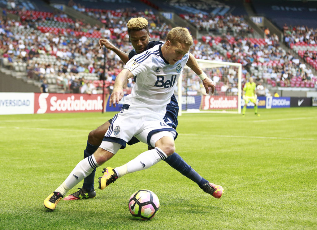 Brett Levis while with Vancouver Whitecaps (Canada Soccer).