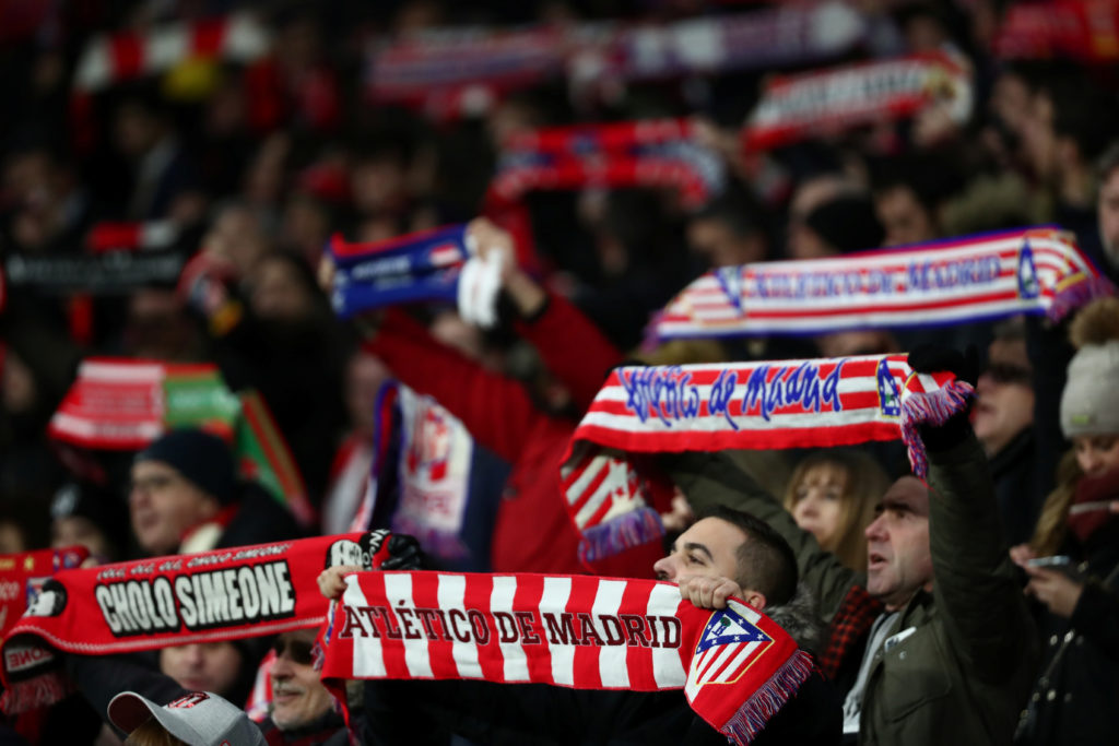 Atlético Madrid fans before a UEFA Champions League match against Lokomotiv Moscow in December 2019. (Photo: REUTERS/Sergio Perez)