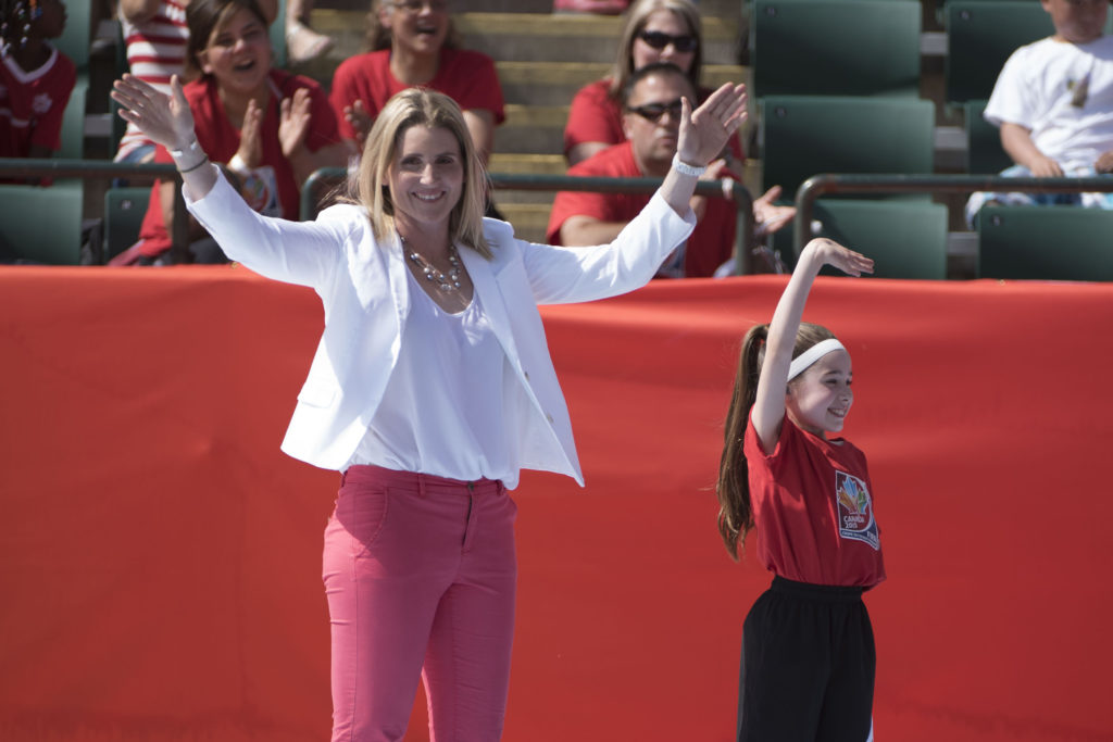 Hayley Wickenheiser at the FIFA Women's World Cup Canada 2015 Opening Ceremony. (Canada Soccer).