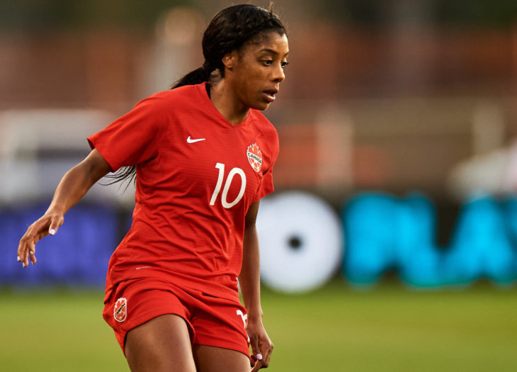 Canadian midfielder Ashley Lawrence. (Canada Soccer by Mexsport)