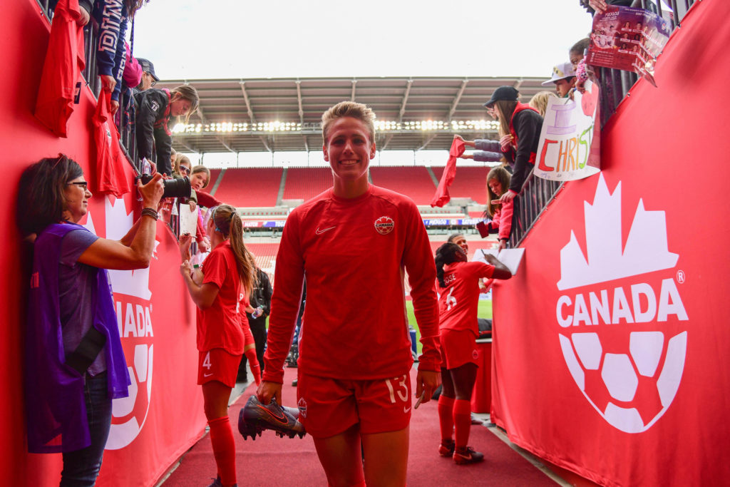 Sophie Schmidt at BMO Field. (Photo: Canada Soccer by Martin Bazyl).