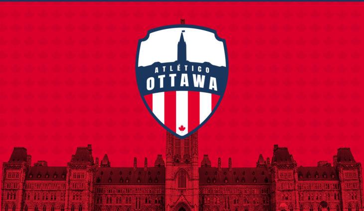 Atlético Ottawa's crest.