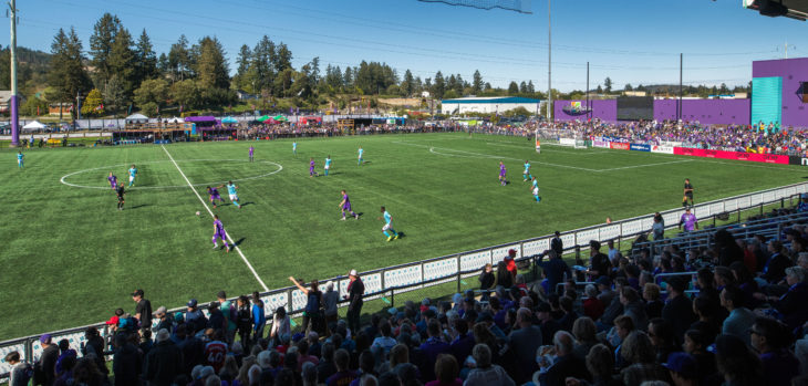 Canadian Premier League - Pacific FC v HFX Wanderers - Westhills Stadium, Langford, British Columbia - April 28, 2019 Pacific FC and HFX Wanderers face off in their first match in the Canadian Premier League (James MacDonald/CPL)