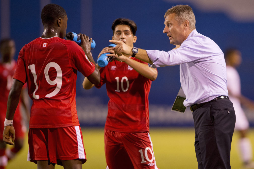 CONCACAF Men's Under-17 Championship 12 March 2015 - San Pedro Sula, HON CanadaSoccer by Mexsport Gabriel Boakye v Sean Fleming