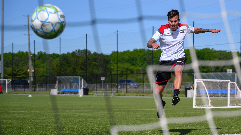 Atlético Ottawa's Ben Fisk. (Matt Zambonin/Freestyle Photography)