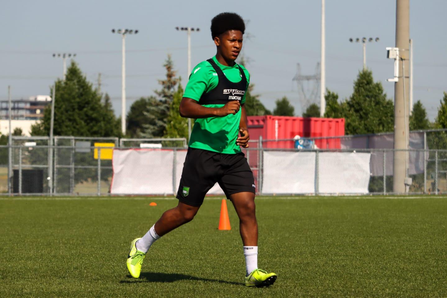 York9 FC's Isaiah Johnston.