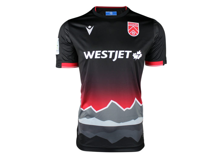 "Cavalry FC's 2020 ""City Edition"" away kit."