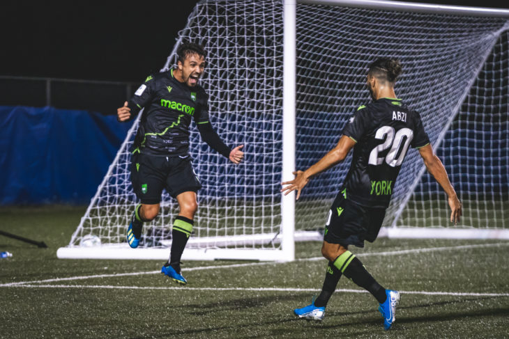 York9 FC's Alvaro Rivero (CPL/Chant Photography)