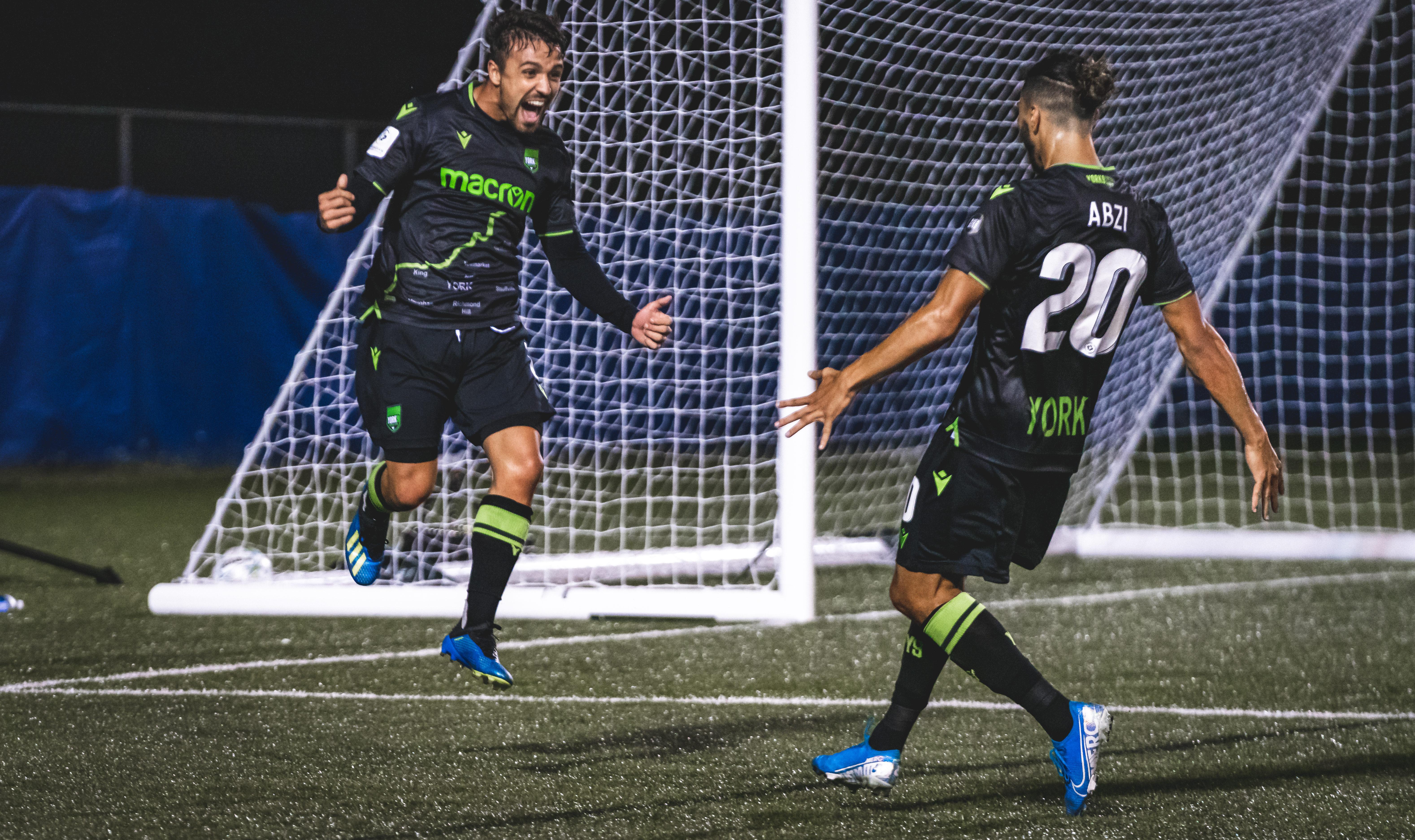 York9 FC's Alvaro Rivero, left. (CPL/Chant Photography)