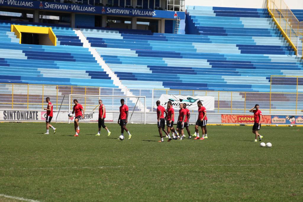 Canada training in Estadio Cuscatlán, El Salvador, in 2015. (Photo: Canada Soccer)