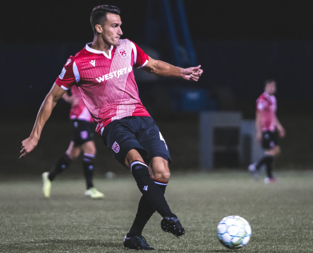 Cavalry FC defender Dominick Zator. (Photo: CPL/Chant Photography)