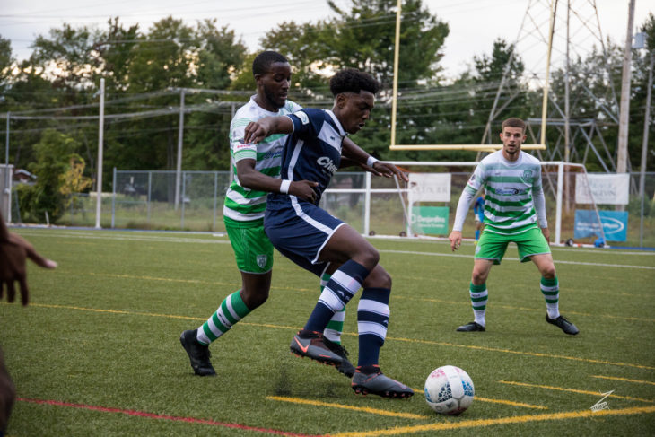 Garven-Michée Metusala in action for AS Blainville. (Photo c/o Metusala)