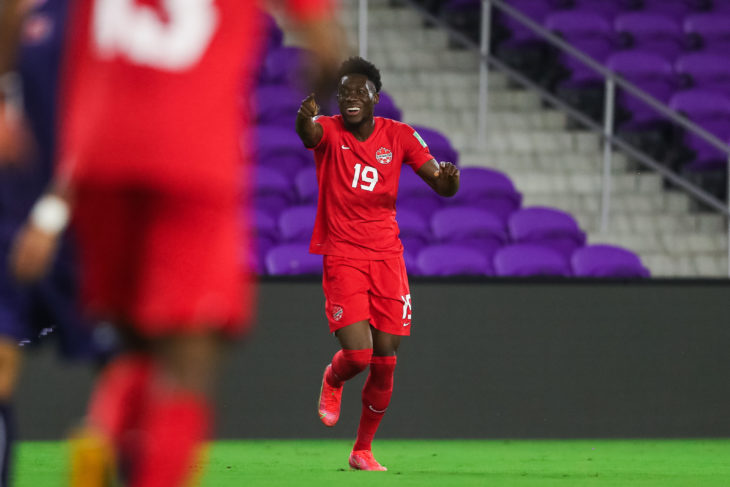 FIFA World Cup Qualifiers 25 March 2021 – Orlando, FL, USA Canada Soccer by Jeremy Reper Cyle Larin goal celebration (incl. Alphonso Davies)