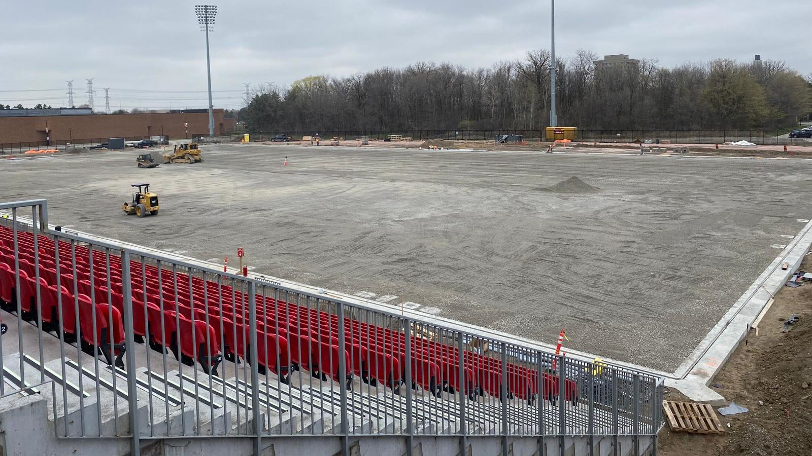 Work being done at York Lions Stadium (Photo: York United)