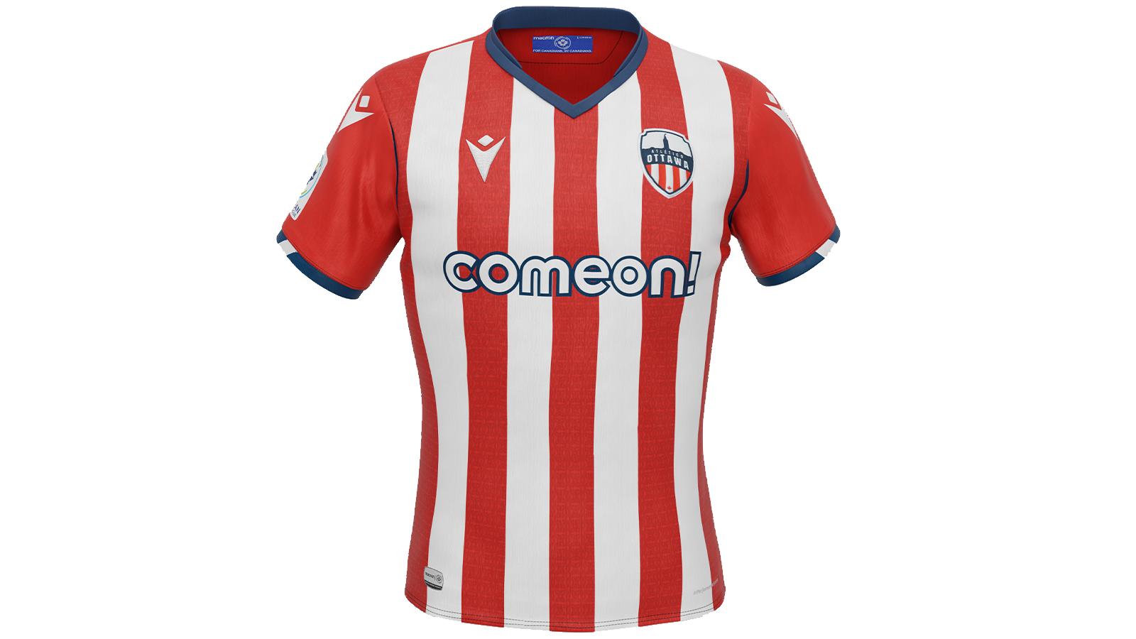 "Atlético Ottawa's 2021 ""Community"" kit, produced by Macron."
