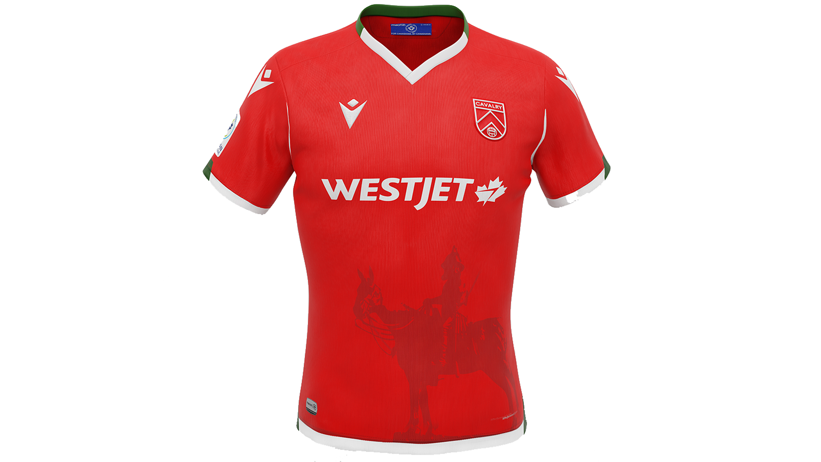 """Cavalry FC's 2021 """"Community"""" kit, produced by Macron."""