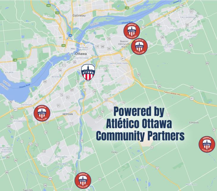 Powered by Atlético Ottawa Community Partner Locations