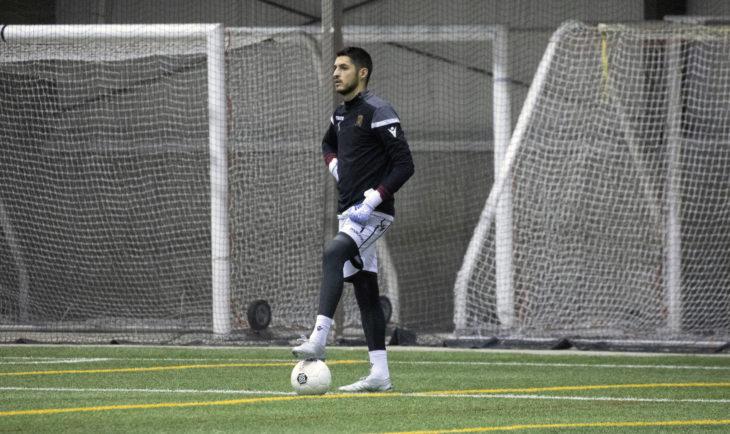 James Pantemis in training with Valour FC.