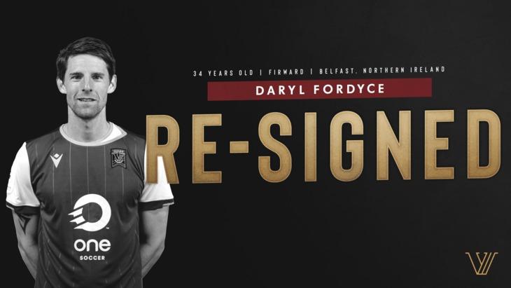 Valour FC announces return of forward Daryl Fordyce